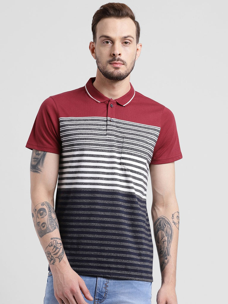 cobb red polo collar t-shirt