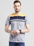 COBB Mustard Polo Collar T-Shirt
