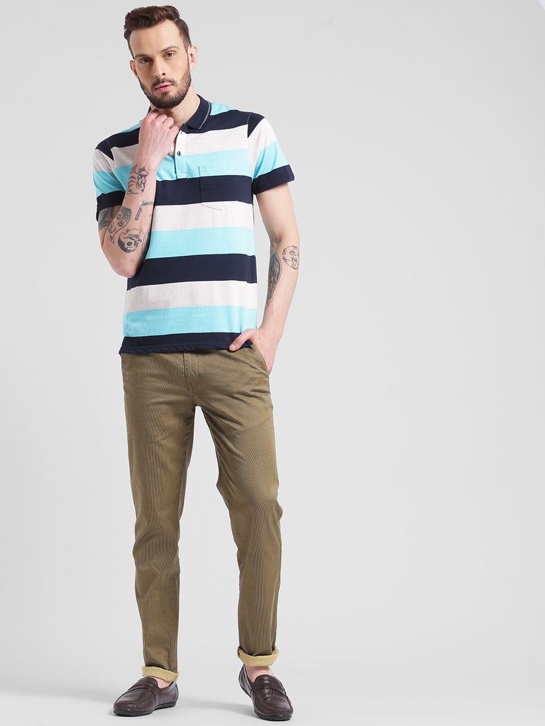 cobb turquoise polo neck t-shirt