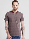 cobb maroon polo collar t-shirt