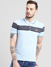 cobb blue polo collar t-shirt