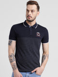 COBB Navy Blue Polo Collar T-Shirt