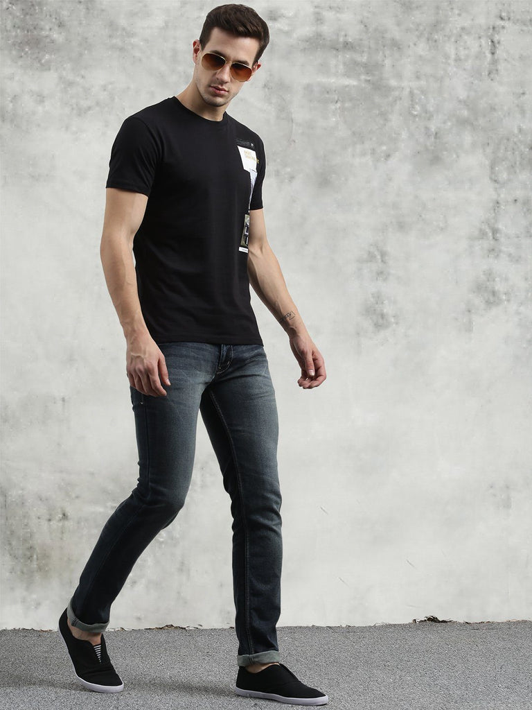 COBB Black Round Neck T-Shirt