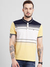cobb yellow polo collar t-shirt