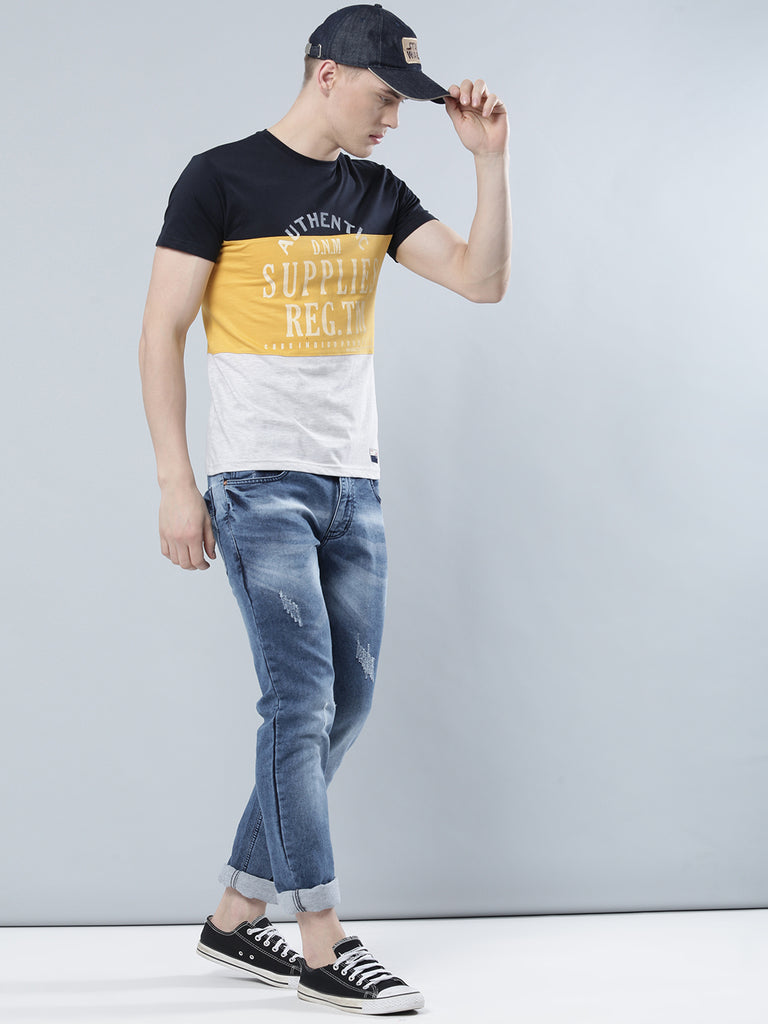 COBB Yellow Round Neck T-Shirt