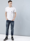 COBB White Round Neck T-Shirt