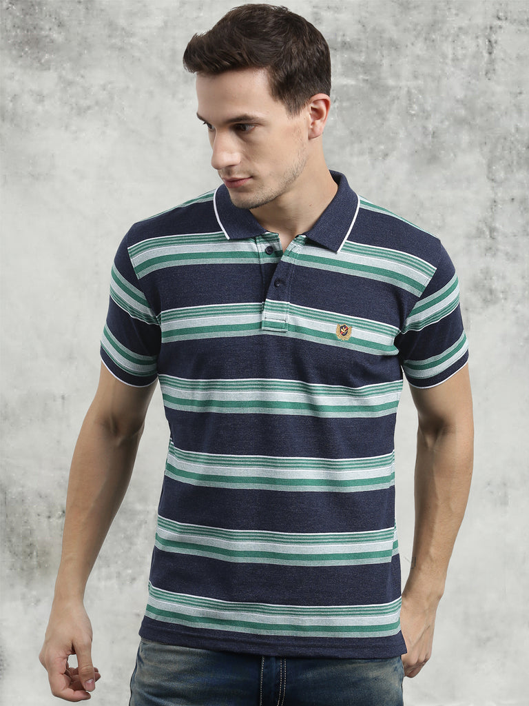 cobb green polo neck t-shirt