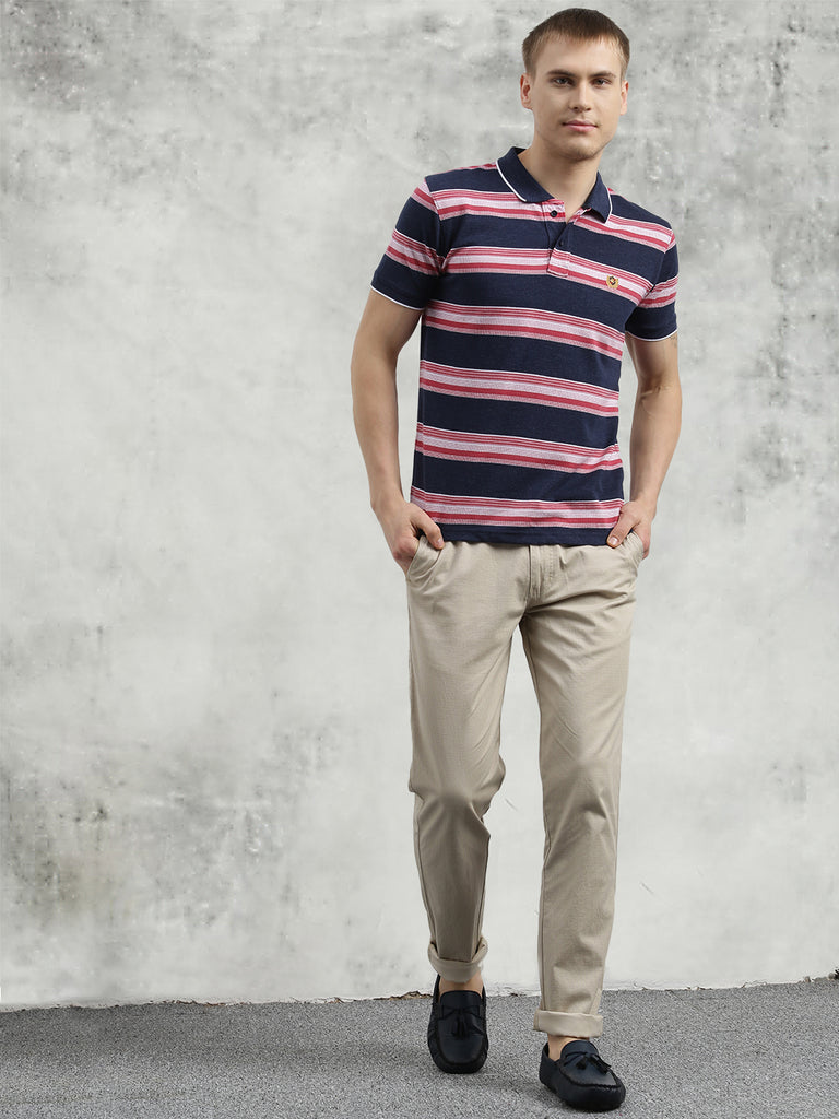 COBB Pink Polo Neck T-Shirt