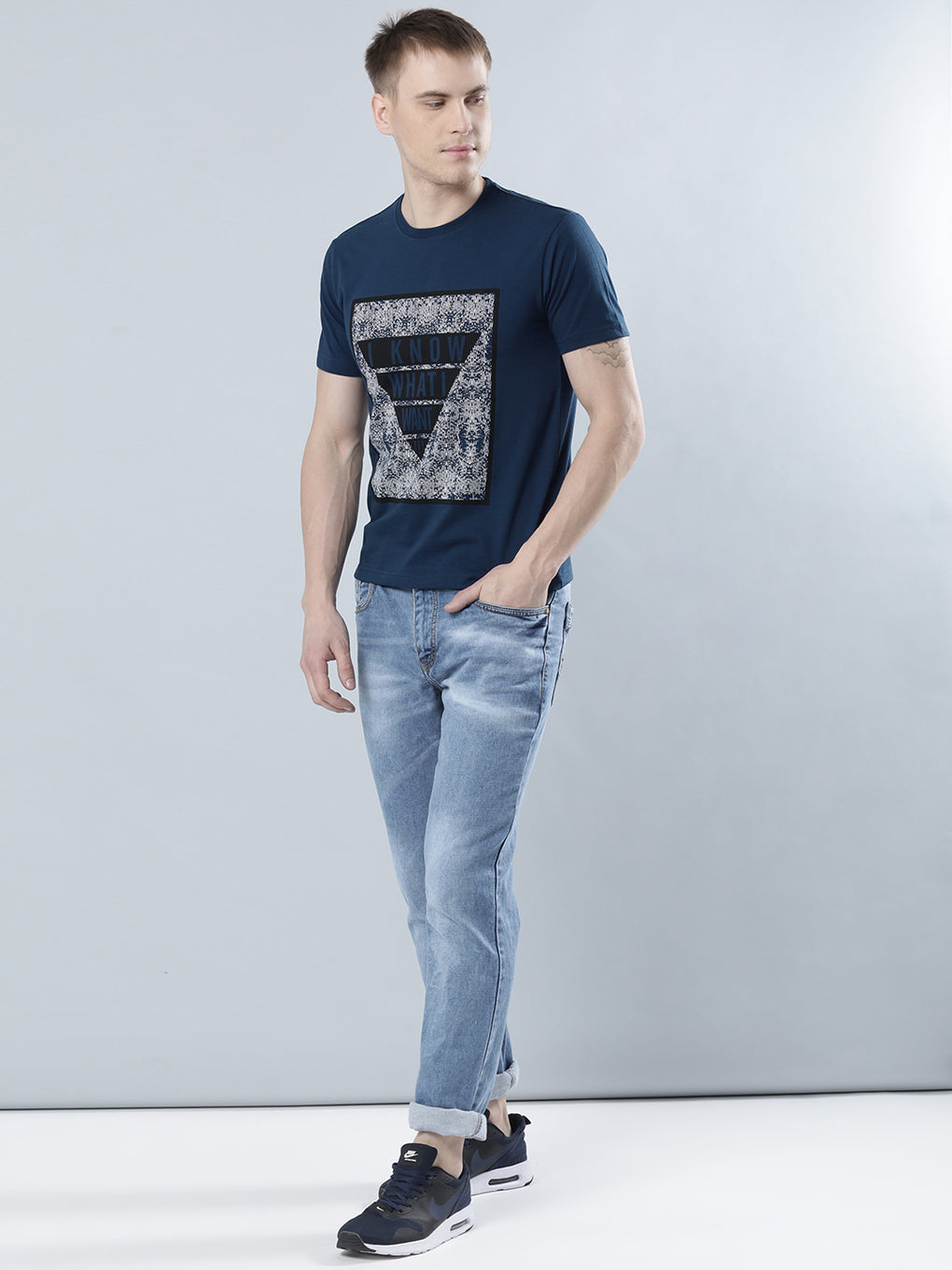 COBB Blue Round Neck T-Shirt