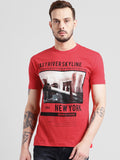 COBB Red Round Neck T-Shirt