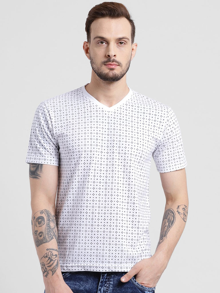 cobb white v-neck t-shirt