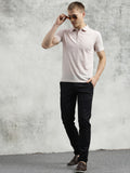 COBB Beige Polo Neck T-Shirt