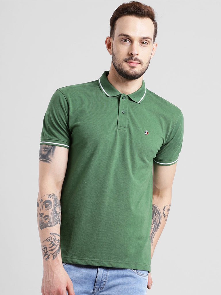 cobb olive polo collar t-shirt