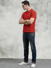 COBB Red Polo Neck T-Shirt