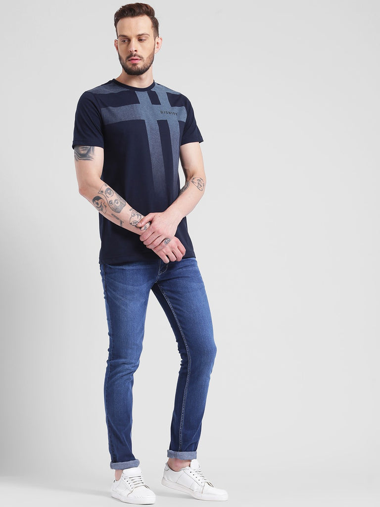 cobb navy round neck t-shirt