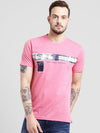 cobb magenta round neck t-shirt
