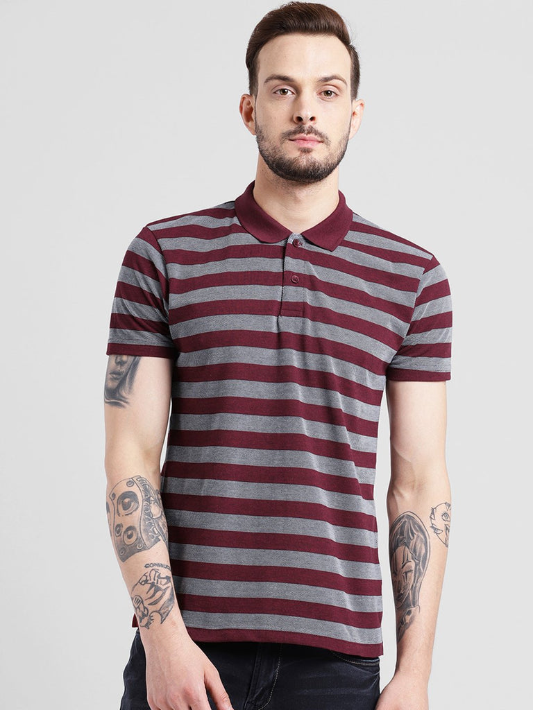 cobb magenta polo collar t-shirt