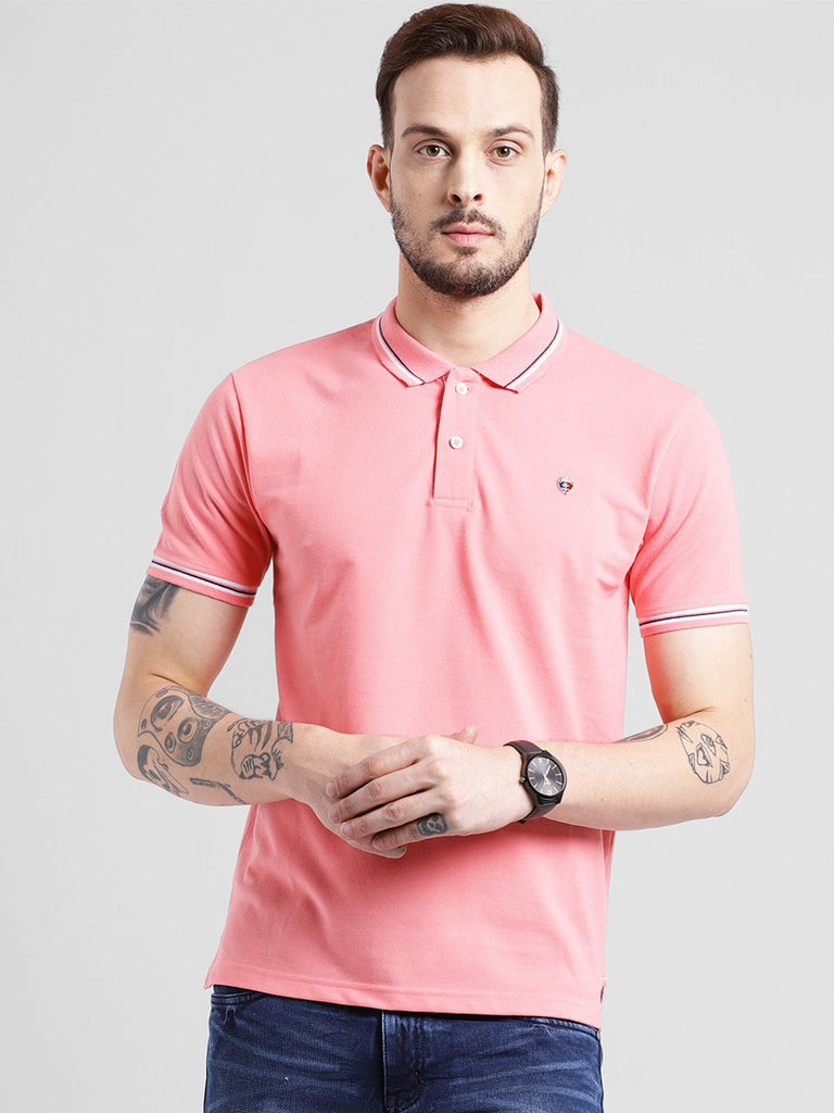 cobb peach polo collar t-shirt