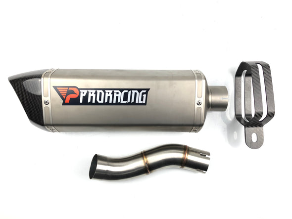Triumph Speed Triple 765 13 14 ProRacing®Exhaust Link Pipe Silencer Titanium