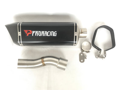 Ducati 1200 (17-18) ProRacing®Exhaust Link Pipe and Silencer Stainless