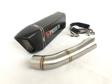Ducati 797 (17-18) ProRacing®Exhaust Link Pipe and Silencer Stainless