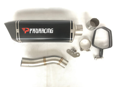 Ducati 797 (17-18) ProRacing®Exhaust Link Pipe and Silencer Titanium