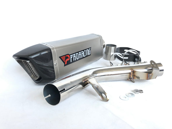 Suzuki GSX-R 600/750 (15-16) ProRacing®Exhaust Link Pipe and Silencer Titanium