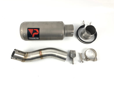 Triumph Speed Triple 765 (17-18) ProRacing®Exhaust Link Pipe and Silencer Titanium