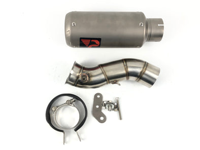 Yamaha YZF R1 09 11 12 ProRacing®Exhaust Link Pipe Silencer Titanium