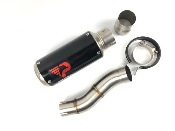Triumph Speed Triple 765 (11-16) ProRacing®Exhaust Link Pipe and Silencer Stainless