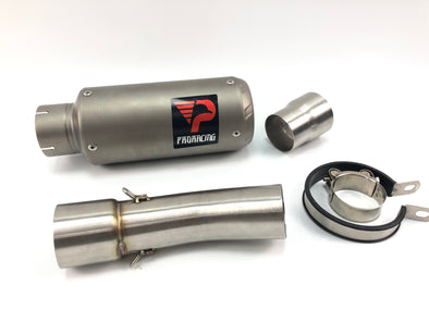 BMW F800RGS 12 13 14 15 ProRacing®Exhaust Link Pipe Silencer Titanium