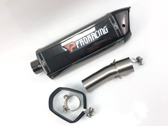 BMW F800R GS (17-18) ProRacing®Exhaust Link Pipe and Silencer Stainless