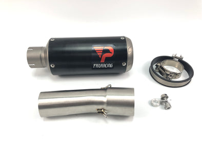 BMW F800R GS (17-18) ProRacing®Exhaust Link Pipe and Silencer Titanium