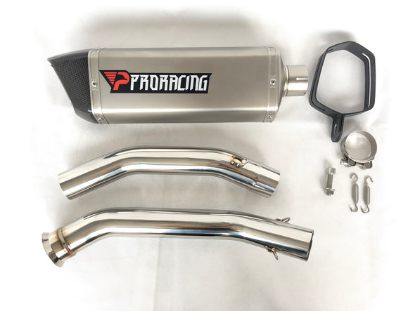 KTM Duke 690 (12-18) ProRacing®Exhaust Link Pipe and Silencer Titanium