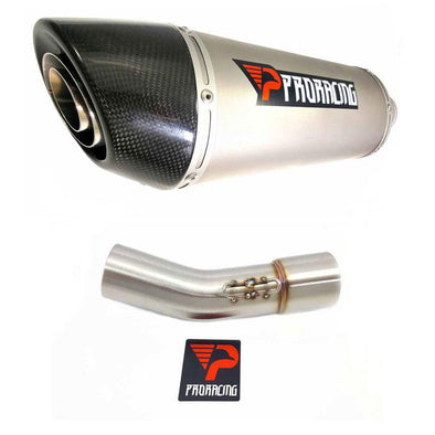 BMW F800R GS 11 13 15 GT 12 14 16 ProRacing® Link Pipe Silencer Titanium