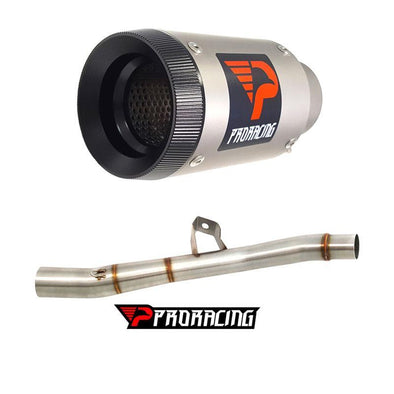 Triumph XC 1200 (15-16) ProRacing®Exhaust Link Pipe and Silencer Titanium
