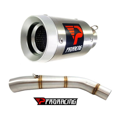 Triumph Tiger 800 XC (15-16) ProRacing®Exhaust Link Pipe and Silencer Stainless