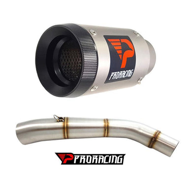 Triumph Tiger 800 XC (15-16) ProRacing®Exhaust Link Pipe and Silencer Titanium