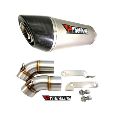 Ducati Monster 696 14 09 12 ProRacing®Exhaust Link Pipe Silencer Titanium