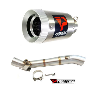 Kawasaki Ninja ZX-10R (2017) ProRacing®Exhaust Link Pipe and Silencer Stainless