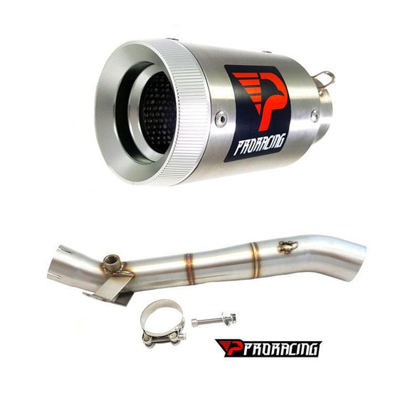 Kawasaki Ninja ZX-10R 12 13 14 ProRacing®Exhaust Link Pipe Silencer Stainless