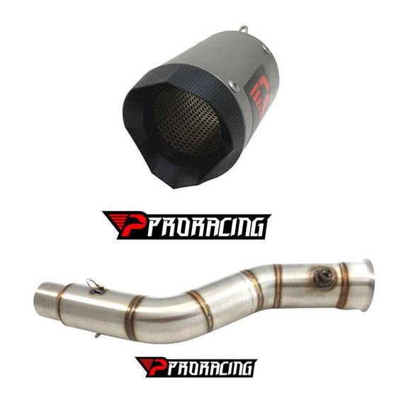 Yamaha YZF R1 Upside 51mm (09-14) Link Pipe and Silencer Titanium