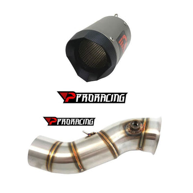Yamaha YZF R1 Downside 60mm 14 13 12 11 Link Pipe Silencer Titanium