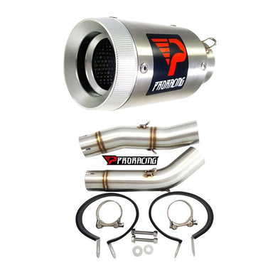 Yamaha YZF R1 Double under-seat (07-08) Link Pipe Set and Silencer 2/2 Stainless