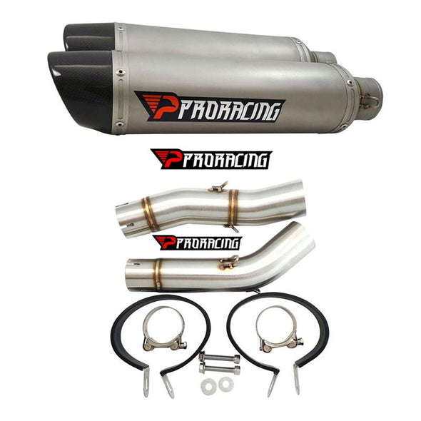 Yamaha YZF R1 Double under-seat (07-08) Link Pipe Set and Silencer 2/2 Titanium Color