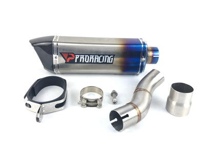 Triumph Speed Triple 765  (17-18) ProRacing®Exhaust Link Pipe and Silencer Stainless