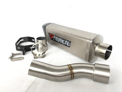 Ducati 1200 (17-18) ProRacing®Exhaust Link Pipe and Silencer Titanium