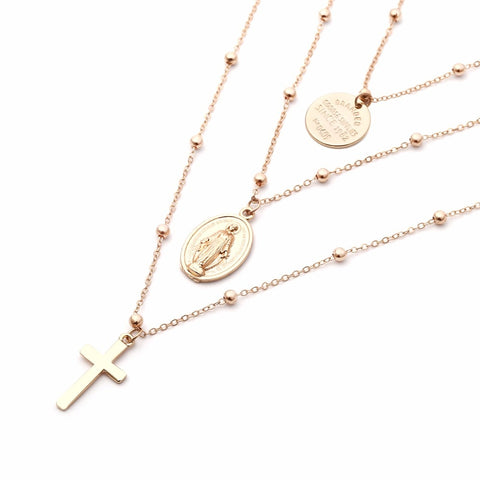 Passion - Cross Layered Necklace