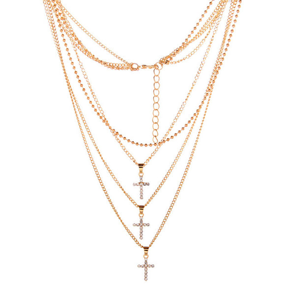 Triplet - Cross Layered Necklace