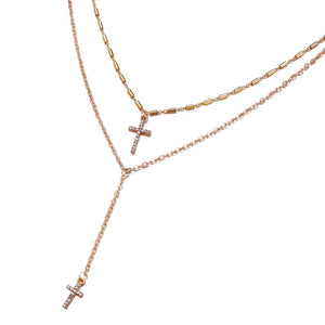 Karma - Layered Cross Necklace